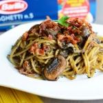 Spaghetti z pudrem z praw...