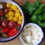 Salatka z mini pomidorkow...