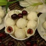 Kulki kokosowe z czeresni...