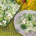 Zielona salatka z brokule...