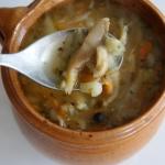 Zupa z boczniakow - flacz...