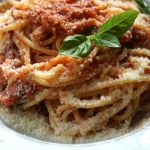 Spaghetti arrabiata z...