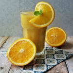 Smoothie - pomarancza, ba...