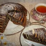 Zebra - ciasto z...