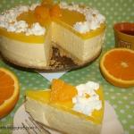 Pomarańczowy sernik na...
