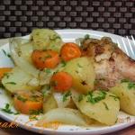 Kurczak pieczony w warzyw...