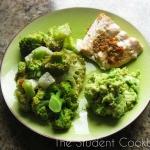 Łosos z brokulami zapiek...