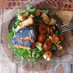 Łosos z warzywami - supe...