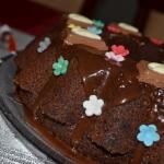 Puszysta babka czekoladow...
