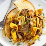 Boczniaki smazone z omlet...