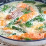 Ryba w kremowym sosie ze ...