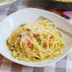 Słynne spaghetti olio...