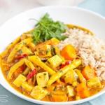 Wegańskie curry z tofu...
