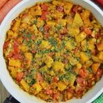 Gulasz curry z dynią...