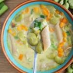 Fit zupa serowa z bobem...