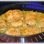 Ryba pieczona na ryzu