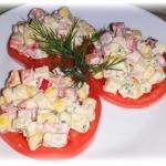 Sałatka na pomidorach
