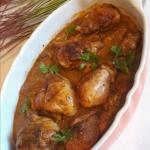 Podudzia z kurczaka w sos...