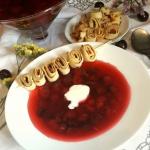 Zupa wisniowa z makaronem...