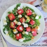 Salatka z arbuza, rukoli ...