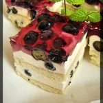 Ciasto z borowkami