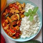 Kurczak z warzywami i ryz...