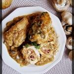 Roladki z kurczaka w sosi...