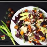 Salatka z batatow, oliwek...