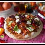 Pizza z sosem dyniowym i ...