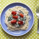 Spaghetti ze szpinakiem,...