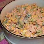 Salatka z gotowanym kurcz...