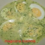 Jajka w sosie koperkowym ...