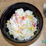 Salatka ryzowa z szynka