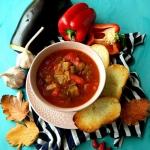 Zupa paprykowa z baklazan...