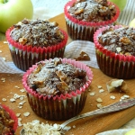 Razowe muffiny z jablkami...