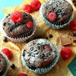 Muffinki orkiszowe z mali...
