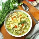 Zupa szparagowa z lanymi ...
