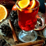 Zimowa herbata z malinami