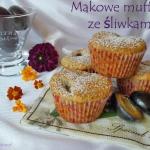 Makowe muffiny ze sliwkam...