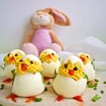 Jajka faszerowane-kurczac...