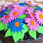 Tort kwiatek w doniczce