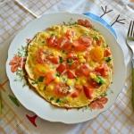 Zdrowy, kolorowy omlet z...