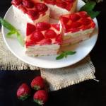 Dwukolorowe ciasto z...