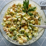 Salatka z szynka i serem