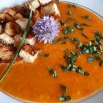 Malinowa zupa krem