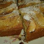 Ciasto jablkowe z pudrem