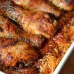 Kurczak pieczony na ryzu ...
