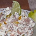 Sałatka z białego sera...