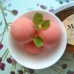 Lody arbuzowo - jogurtowe