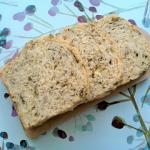 Chleb pszenny z liśćmi...